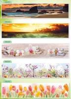 Стеновые панели МДФ цветы
