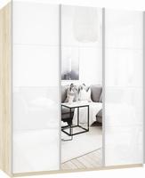 Шкаф-купе Прайм 3-х дверный (фасад стекло/зеркало/стекло)