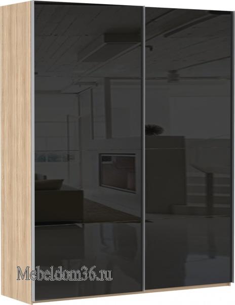 Шкаф-купе Эста 2-х дверный 8 черных стекол