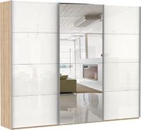 Шкаф-купе Эста 3-х дверный, 8 стекло белое, 4 зеркало
