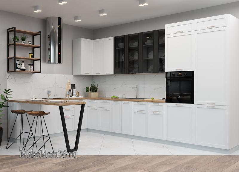 Кухня Квадро белый Софт