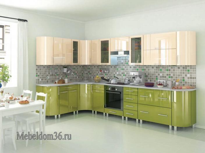 Кухня Танго с радиусными фасадами