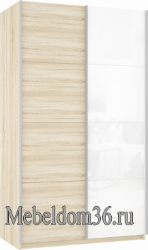 Шкаф-купе Прайм 2-х дверный (фасад ДСП/стекло)
