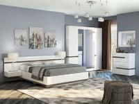 Спальня Ультра Белый глянец