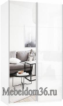 Шкаф-купе Прайм 2-х дверный (фасад стекло/зеркало)