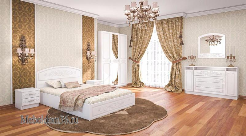 Спальня Венеция (Жемчуг глянец)
