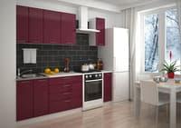 Кухня Валерия М-1 глянец бордовый