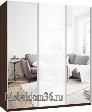 Шкаф-купе Прайм 3-х дверный (фасад зеркало/стекло/зеркало)