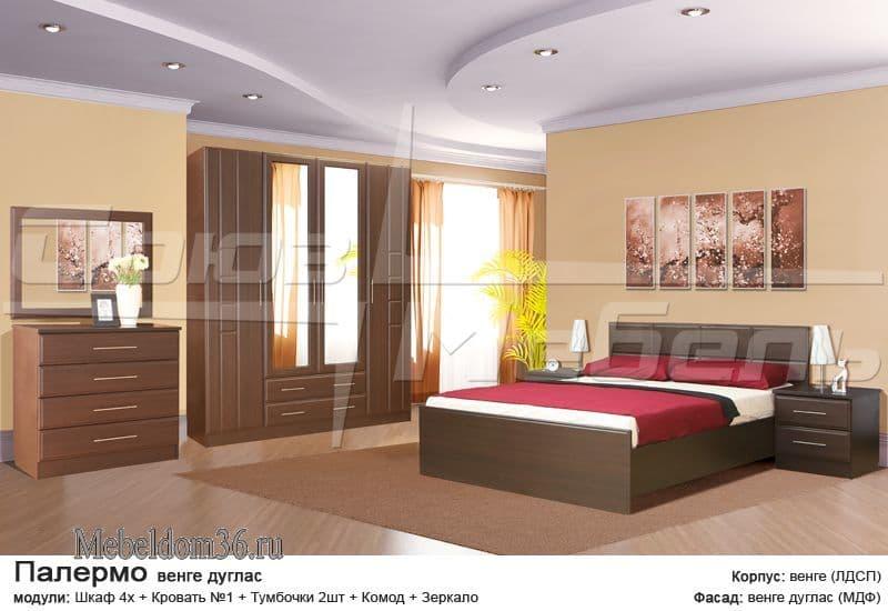 Спальня Палермо Венге Дуглас
